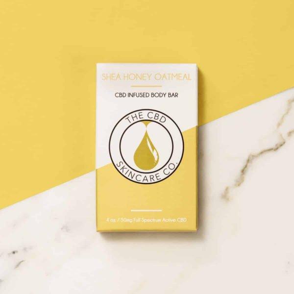 cbd skin care products shea honey oat body bar
