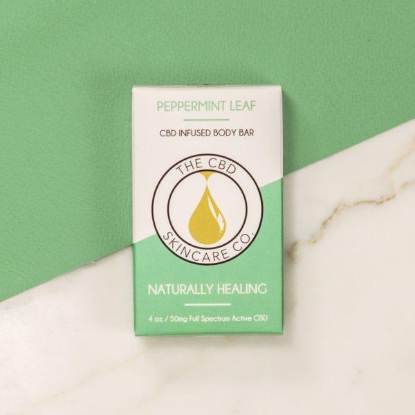 peppermint leaf body bar