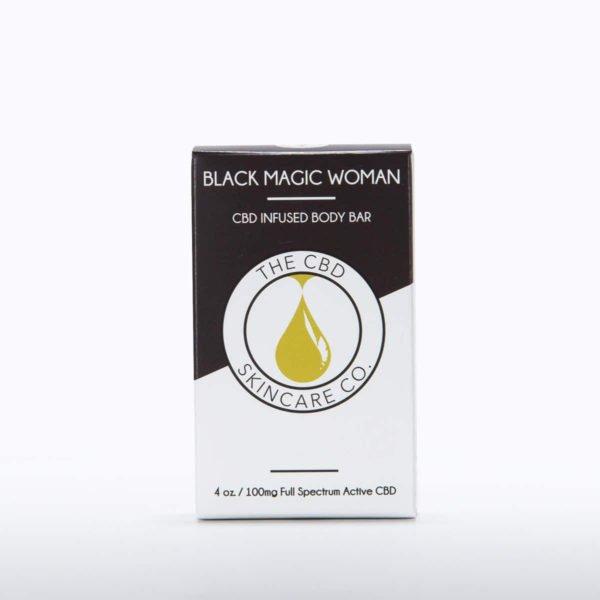 cbd skin care products black magic woman body bar